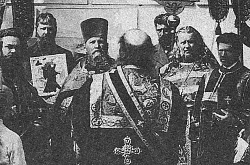 Протоиерей Иоанн Кронштадтский и священник Николай Симо